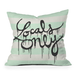 Wesley Bird Locals Only Throw Pillow