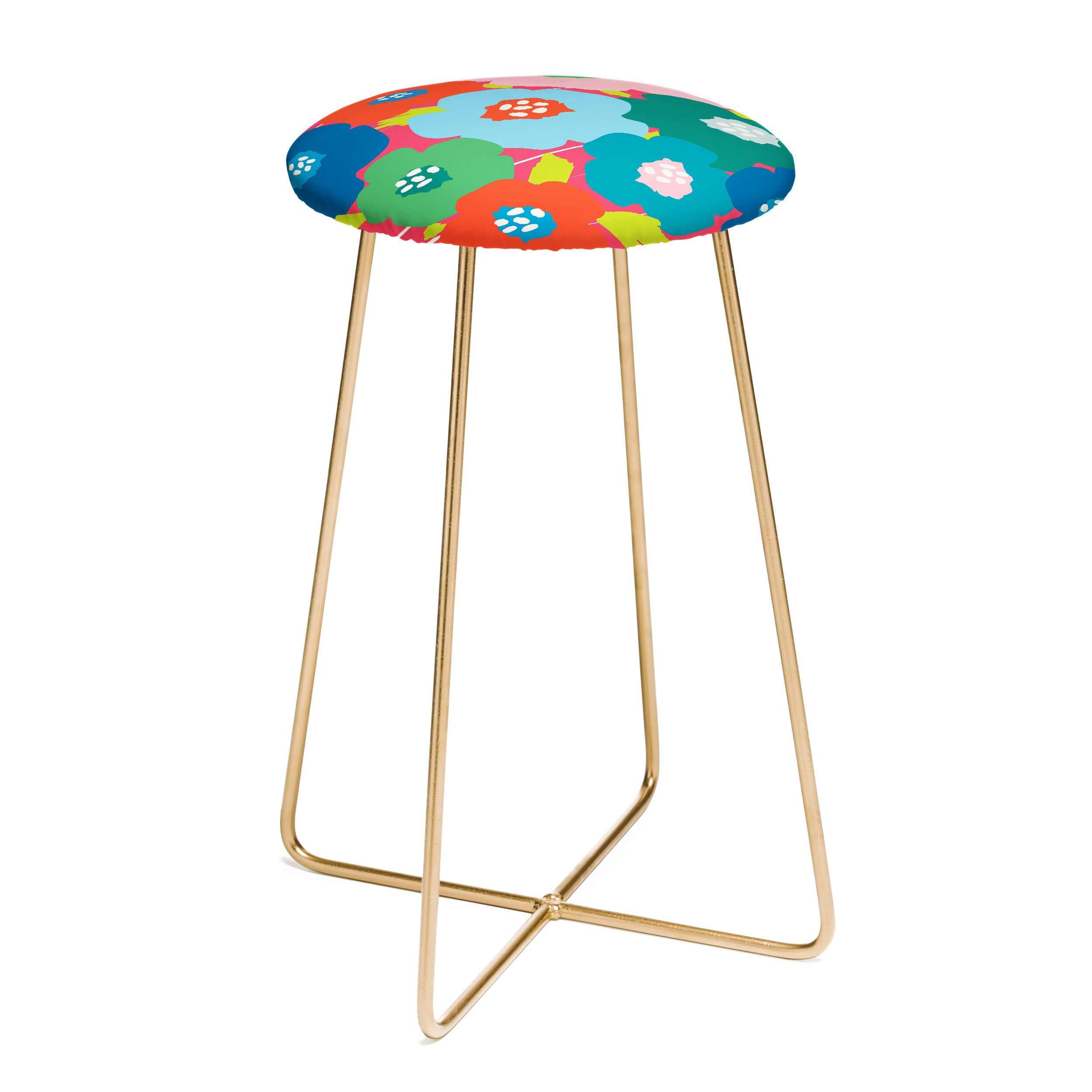 Zoe Wodarz Big Flower Pop Counter Stool
