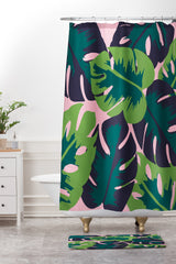 Zoe Wodarz Patio Party Shower Curtain And Mat