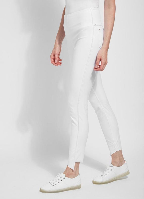 Lysse White Denim Side Slit
