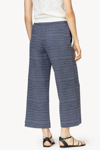 Lilla P Navy Texture Pull On Pant