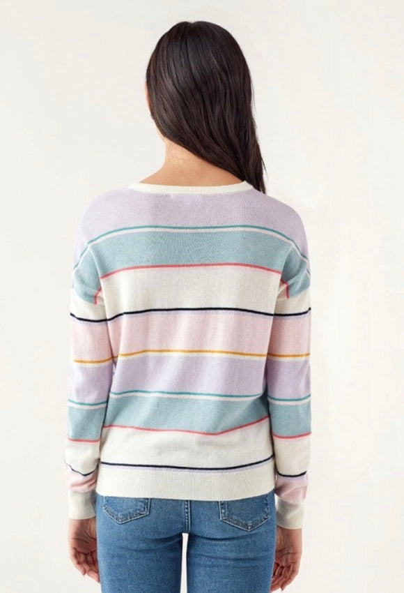 Splendid Pastel Stripe Sweater