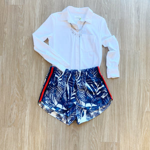 Chris Gramer Blue Plam Short