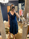 Z Supply Navy and Black Tie Dye Dress