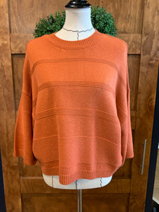 JACk Burnt Orange Wide Sleeve Sweater