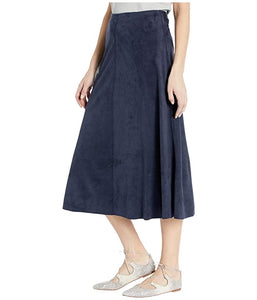 Lysse navy Faux Suede Skirt
