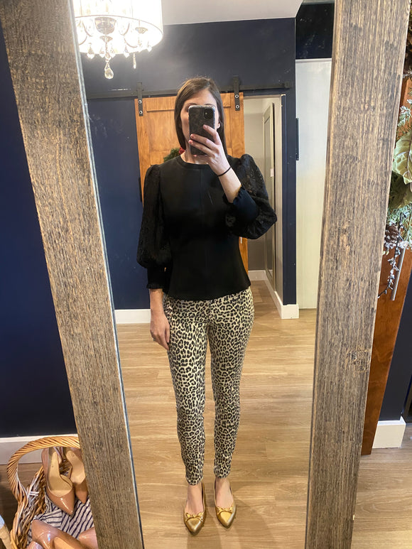 Cheetah Aline High Rise Skinny Jean