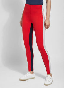 Lysse Red Multi Stripe legging
