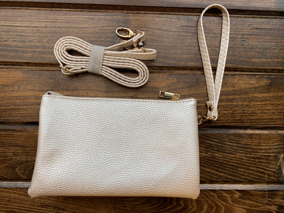 Champagne Liz Custom Collection Crossbody Bag