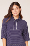 BB Dakota Navy Stripe Pullover