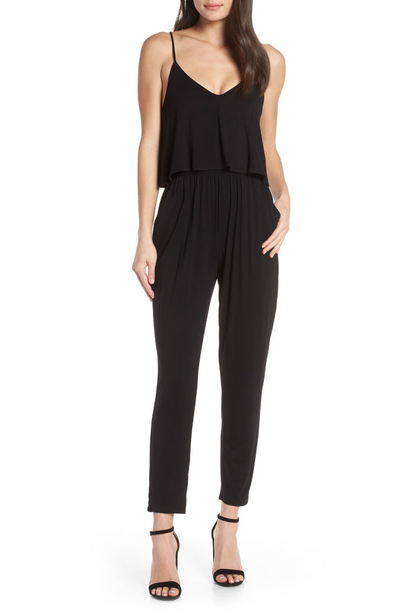 BB Dakota Black Overlay Jumpsuit