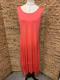 Comfy Coral Sleevless Dress