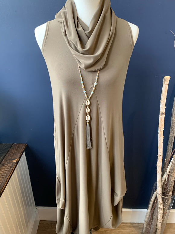 Sympli Sleeveless Dream Dress Mocha
