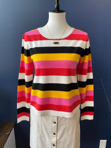 BB Dakota Multi Stripe Light Weight Sweater