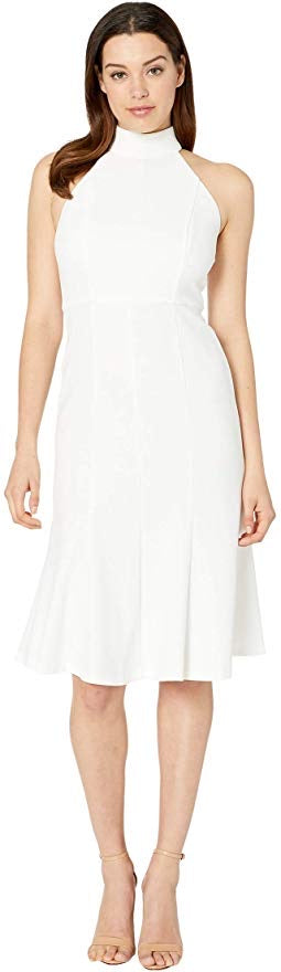 Donna Morgan Ivory Halter Tulip Skirt Dress