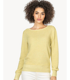 Lilla P Celery Shoulder Detail Sweater