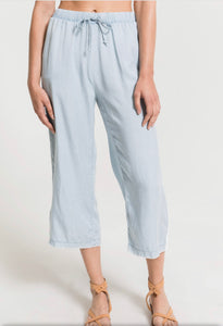Z Supply Chambray Crop Pant w Rope Detail