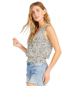Spotted Cross Tank Blouse