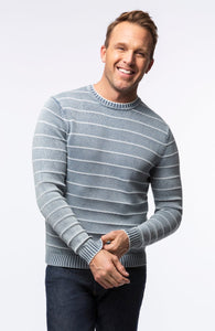 Tyler Boe Men's Blue Striped Sweater