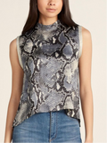 Gracia Blue Snake Top