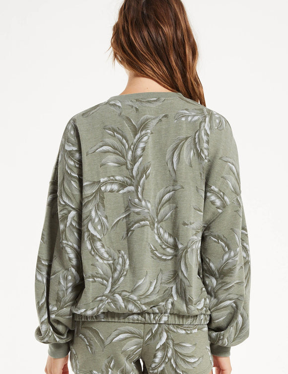 Green Palm Sweatshirt
