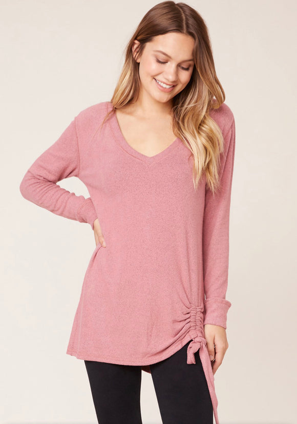BB Dakota Dusty Rose Side Cinch Soft Top