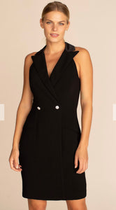 Black Collar Sleeveless Dress