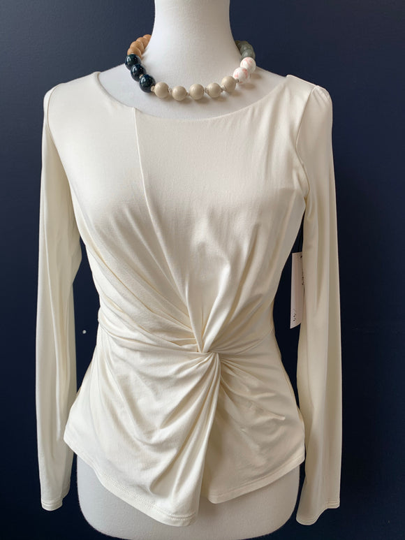 Bailey44 Ivory Twist Front Top