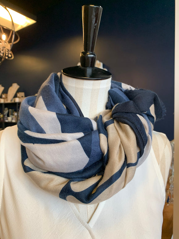 Blue Neutral Joy Susan Scarf