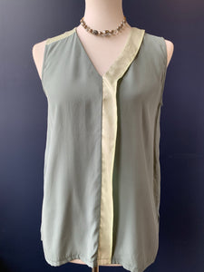 Symphony & Note Sage/Mint Silk Tank
