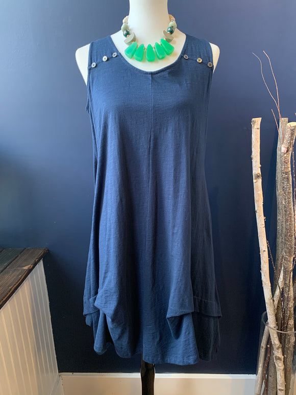 Neon Buddha Navy Coast Dress