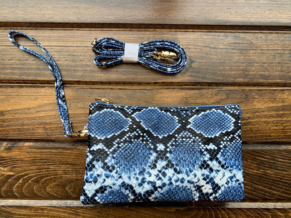 Blue Snake Liz Custom Collection Crossbody Bag