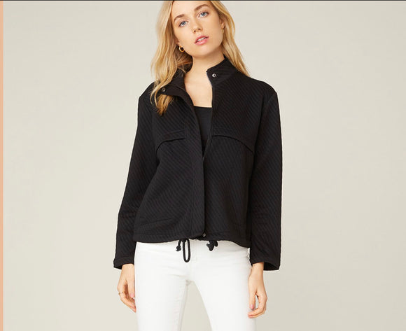 BB Dakota Black Stripe Quilt Jacket