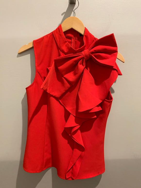 Gracia Red Bow Blouse