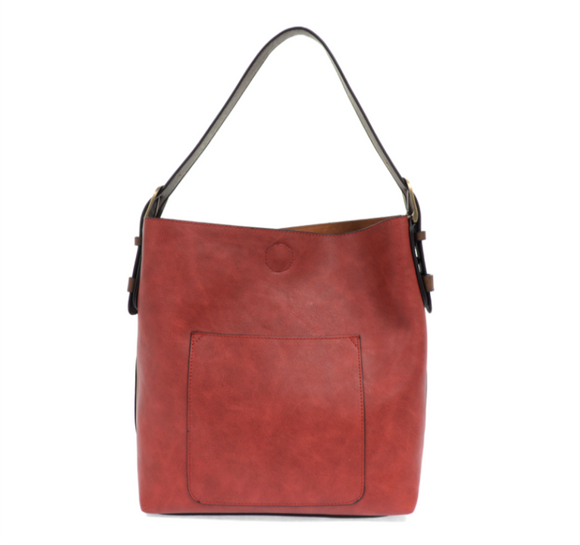 Adobe Red Classic Hobo Handbag