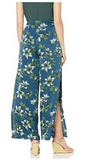 JOA Navy Tropical Side Slit Pant