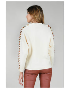 Ivory Multi Rope Hem Sleeve Sweater