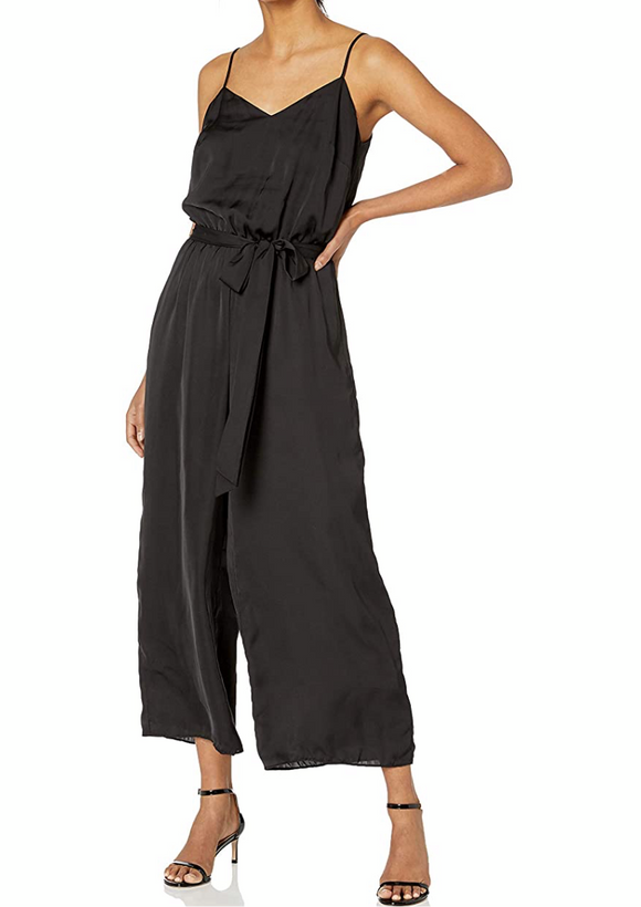 Bailey44 Black Sateen Jumpsuit