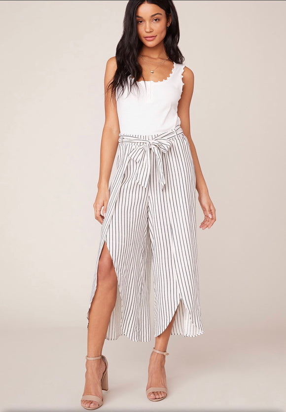 JACK Ivory and Black Stripe Fly Away Pant