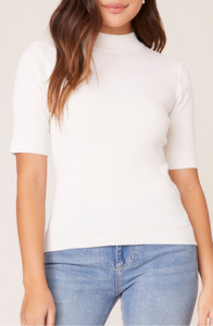 BB Dakota Ivory Mock Short Sleeve