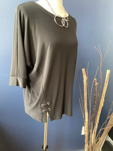 Sympli Black Halo Boxy Top