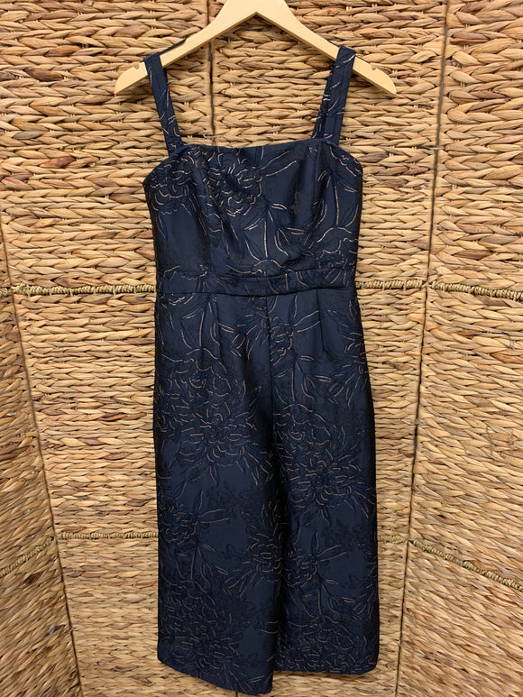 Hutch Navy Embroidered Jumpsuit