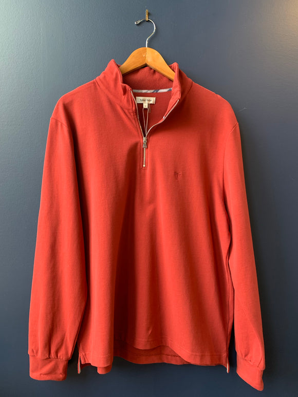 Tyler Boe Men's Red 1/4 Zip