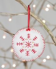Load image into Gallery viewer, Christmas Trio of decorations Felt Craft Sewing Kit Snowflake