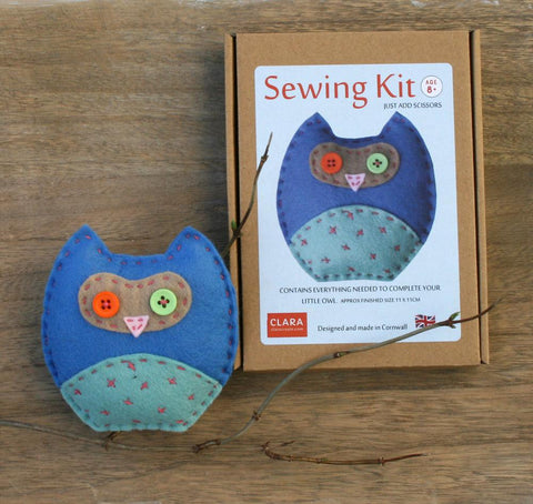 Mini Owl Craft Sewing Kit Blue