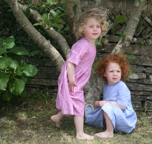 Childrens dress in natural fabric