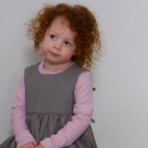 Children's Linen Pinafore Dress
