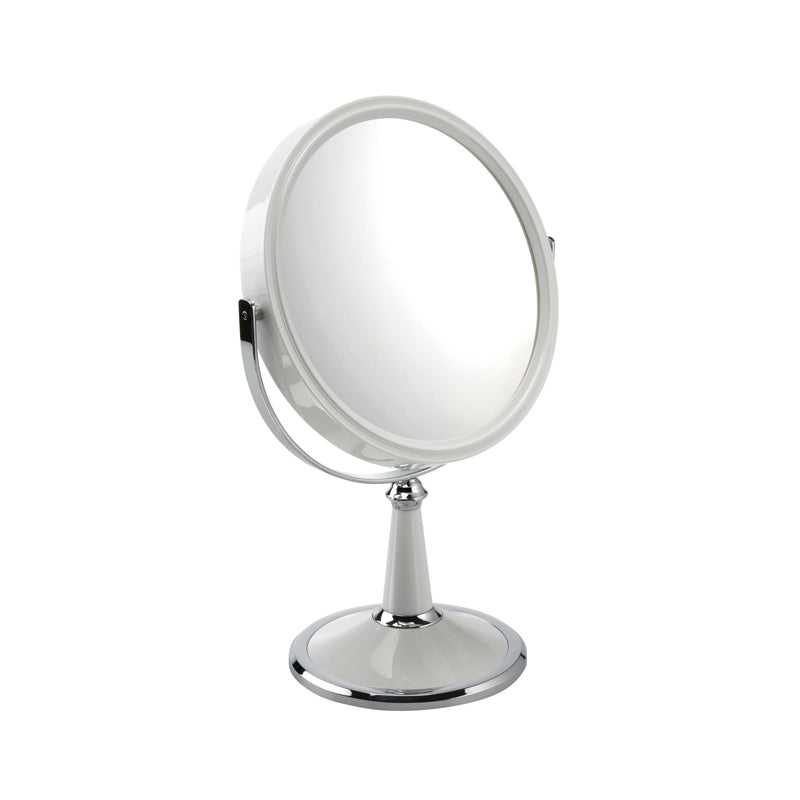 White Freestanding Mirror 10x
