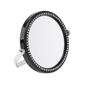 Black Embellished Freestanding Travel Mirror 5x