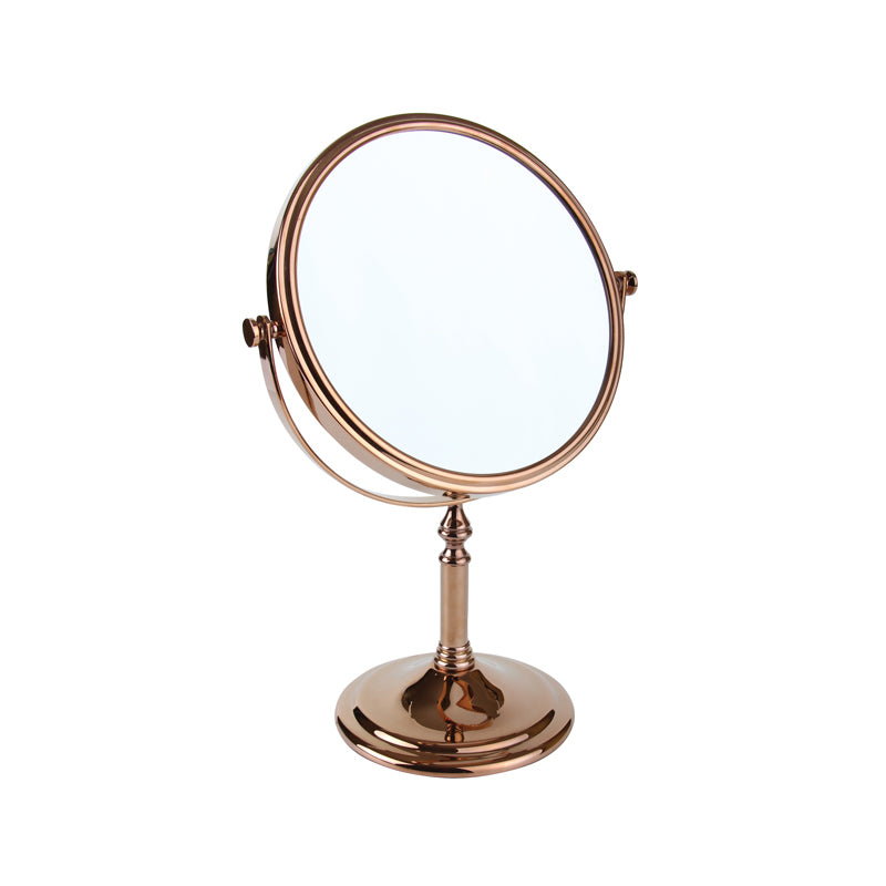 Rose Gold Freestanding Mirror 5x